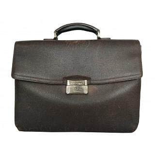 Bvlgari Brown Office Leather Briefcase
