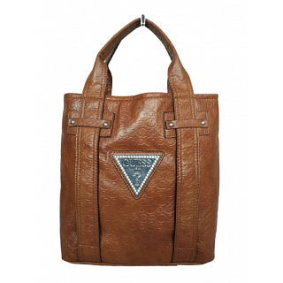 Guess Bright Candy Cognac Faux Leather Tote