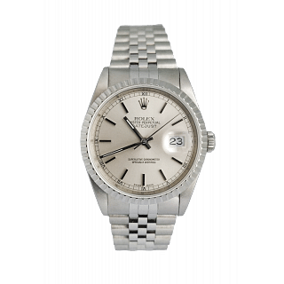 Rolex Datejust White Roman Dial Steel 36mm