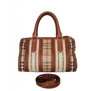 Burberry Haymarket Rope Medium Alchester Satchel