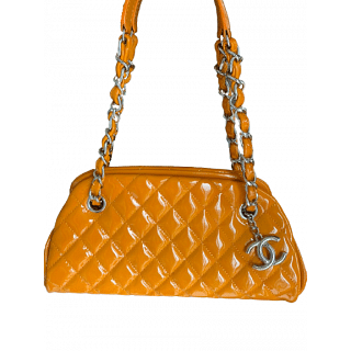 Chanel Quilted Patent Leather Just Mademoiselle Bowling Bag