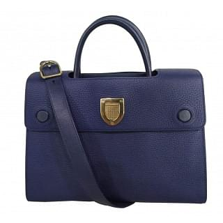 Dior Navy Blue Leather Medium Diorever Bag