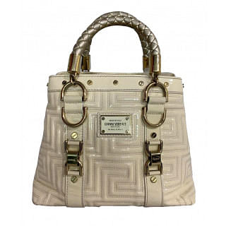 Gianni Versace Couture Leather Satchel