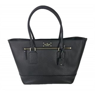 Kate Spade Bay Street Black Leather Harmony Tote
