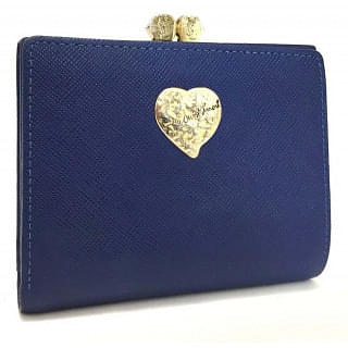 Yves Saint Laurent Heart Blue Bifold Wallet