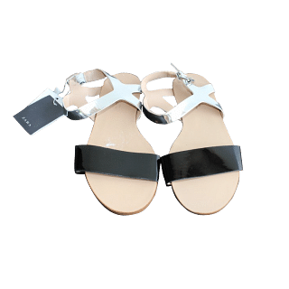 Zara Black and Silver Sandals