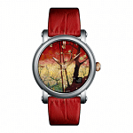 VAN GOGH Flowering Plum Orchard Leather Watch (Lady 12)