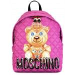 Moschino Pink Crowned Bear Backpack
