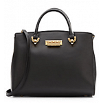 Zac Posen Eartha Saffiano Leather Barrel Satchel