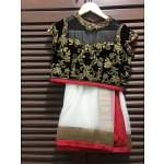 Seema Gujral Black & White With Golden Work Lehenga