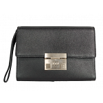 Bally Combination Lock Leather Clutch