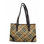 Burberry Haymarket Check Canvas And Leather Tote