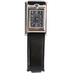 Cartier Rectange Dial Black Strap Watch