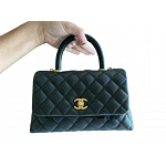 Chanel Quilted Coco Handle Flap Bag