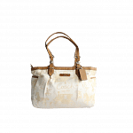 Coach Horse & Carriage Pleated East/West Gallery Tote in Cream | Luxepolis.com