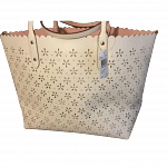 Coach Laser Cut City Tote Peach Rose Glitter Leather Spring Summer
