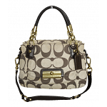 Coach Kristin Double Fabric and Leather Satchel
