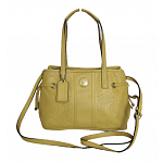 Coach Yellow Perforated Signature Satchel