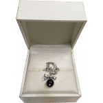 Christian Dior Charm Ring with Black Pearl