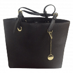 DKNY Shopper Black Tote with Logo Drop