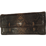 Vintage DKNY Limited Edition Faux Snakeskin Clutch