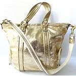 COACH poppy leather Spotlight 2WAY shoulder bag gold 13819