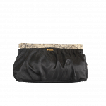 Furla Black Clutch with Animal detail trimming