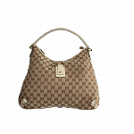 Gucci GG Abbey D Ring Large White & Cream Hobo | Luxepolis.com