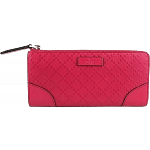 Gucci Fuchsia Diamante Zip around Wallet