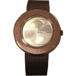 Gucci Women's Swiss U-Play Brown PVD Mesh Bracelet Watch