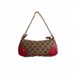 Gucci Handbag with Red Leather Trim