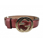 Gucci Guccissima Patent Leather Interlocking G Buckle Belt