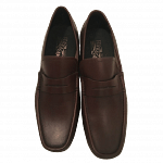 Salvatore Ferragamo Brown Leather Loafers