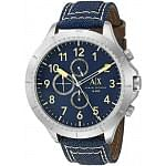 Armani Exchange Men AX1517 Analog Display Analog Quartz Blue Watch