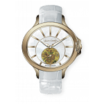 VAN GOGH Sunflower Gem Stone Leather Watch (LO2S)