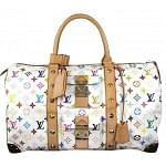 Louis Vuitton  Keepall 45 Luggage White With Accessories Multi Color Travel Bag