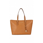 Michael Kors Jet Set Medium Shoulder Tote Bag for Women - Saffiano Leather - Brown - 30T5GTVT2L-230