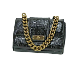 Marc Jacobs Patent Leather Gold Chain Mini Leather Bag