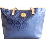 Michael Kors Indigo Patent Leather Monogram Tote