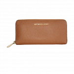 MICHAEL Michael Kors Saffiano Zip-Around Wallet Tan