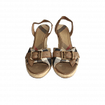 Burberry Check Canvas Wedge Sandals