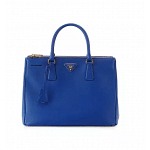 Prada Saffiano Lux Tote Handbag in Bluette/Cornflower Blue 2