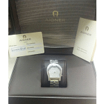 AIGNER Quartz Silver with Diamonds