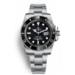 Rolex Submarine Date 40  black stainless- Steel diver watch 16610