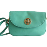 Tory Burch Green Saffiano Leather Robinson Cross body