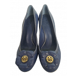 Tory Burch Shelby Floral Leather Wedges