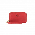 Tory Burch Robinson Pebbled Smartphone Wristlet Wallet Clutch