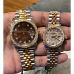Rolex Datejust MOP Diamond Couple watches
