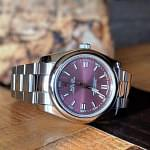 Rolex Oyster Perpetual 36mm Red Grape Dial 116000 DISCONTINUED