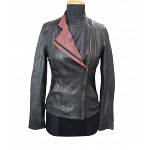 Ted Baker Colour Block Leather Jacket